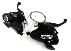 Велосипедные манетки. Шифтер Shimano Alivio ST-M410
