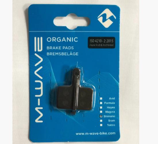 Колодки тормозные для дискового тормоза M-WAVE Organic